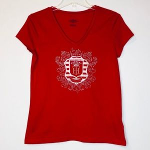 Tommy Hilfiger Womens Tee M Red Sequins Crest